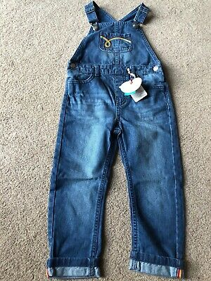 Little Bird By Jools Oliver Denim Dungarees Retro 3-4 Years Boys Girls