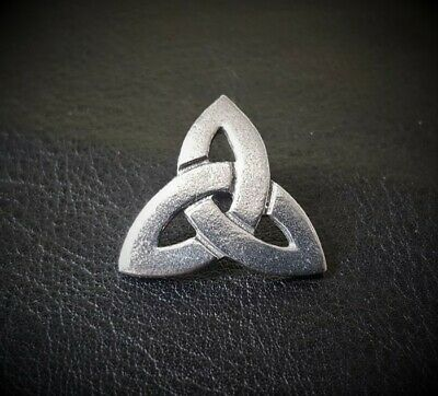 Celtic Triquetra Stud-Back Brooch