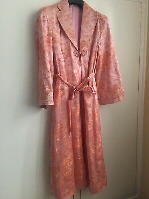 Vintage Chinese silk long jacket/gown  S-M