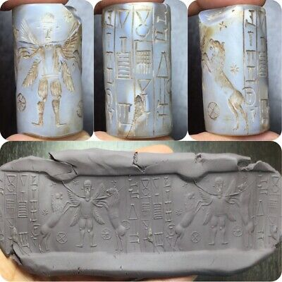 Ancient near eastern agate cylinder seal