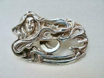 Fine Antique Sterling Silver Art Nouveau Button.