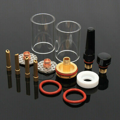 Glass cup Tig Torch Consumables 14pcs/set Welding Stubby Practical Durable