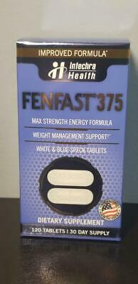 Fenfast 375 Max Strength Energy Formula Dietary Supplement 120 Tablets 01/2021
