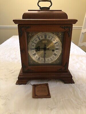 Vintage Hamilton Mantle Clock Key Wind Chiming Shelf Heavy