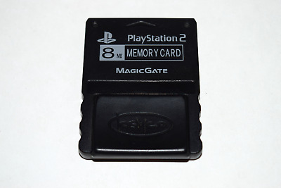 Memory Card 8MB MagicGate Black Kemco for Playstation 2 PS2 Console Game System