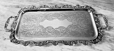 Silverplate Footed Serving Tray by Towle