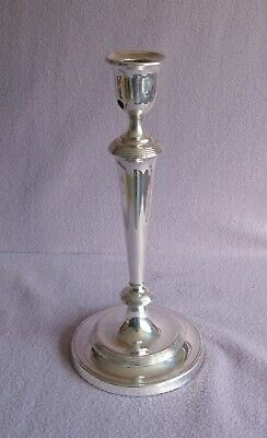 Tall Silver Plate on Copper Antique Victorian Candlestick