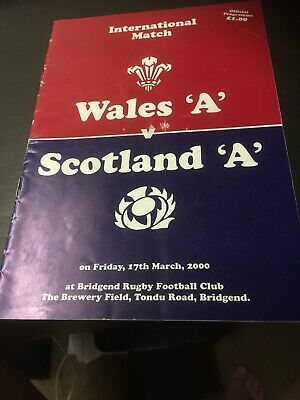 wales rugby union programmes