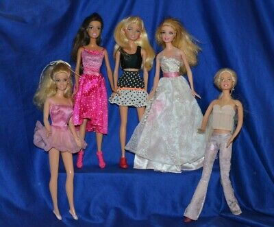 Barbie Dolls Lot Of 5 Dressed Dolls By Mattel