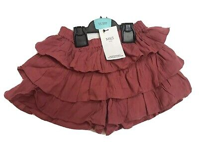 Marks & Spencers Girls Frilled Shorts Culottes Age 5-6 Party Bnwt