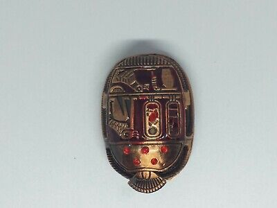 Rare unique Ancient Egypt Antique Figure Faience scarab hieroglyph