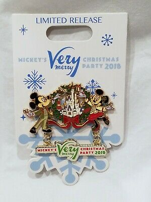 Disney Parks 2018 Mickey's Very Merry Christmas Party Logo Pin Minnie