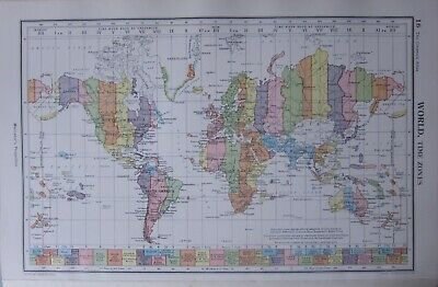 1952 Map ~ World Time Zones
