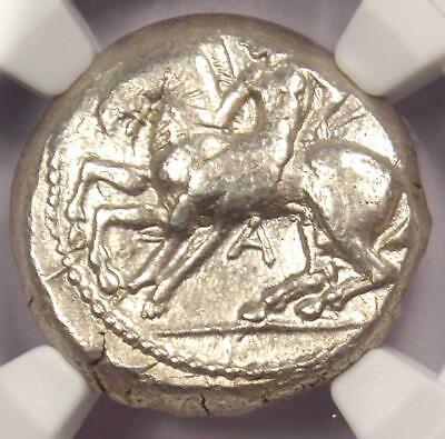 Cilicia Celenderis AR Stater Coin 425-350 BC (Horseman, Goat) - NGC Choice XF