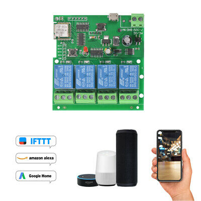 2CH WiFi Smart Switch Relay Module APP Control for Garage Door Automation AH636