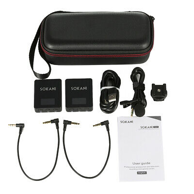 SOKANI Compact Wireless UHF Microphone System for DSLR Video Camera mobile phone