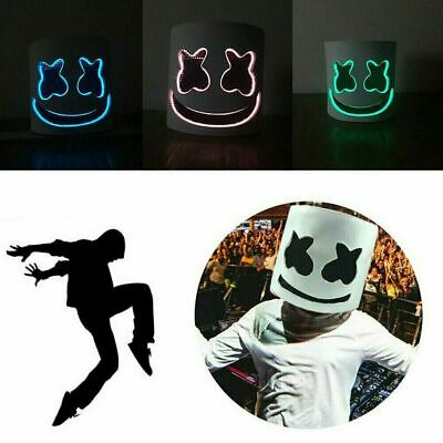 Halloween MarshMello DJ Mask Casco completo LED Flash Mask Bar Marshmallow