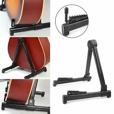 Portable Folding Guitar Stand Electric Acoustic Bass Floor Rack Holder Foldable
