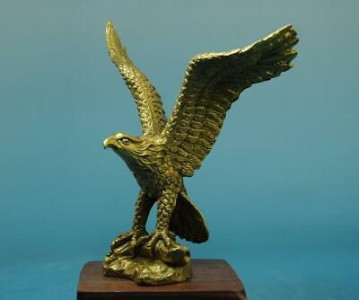chinese old hand carving fine copper collection eagle statue d01