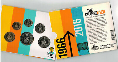 2016 Changeover Coins 50th Anniversary of Decimal Currency Unc RAM Mint set