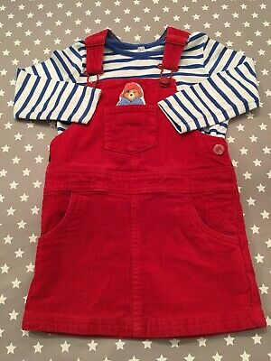M&S Paddington Striped Top And Pinafore Outfit 18-24 Months