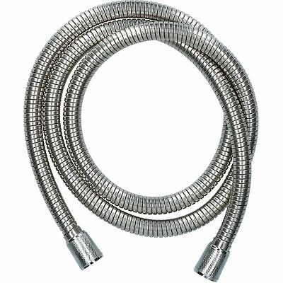 1.5-2m Extendable Stainless Steel Shower Hose Pipe Flexible Standard Fit Crimped