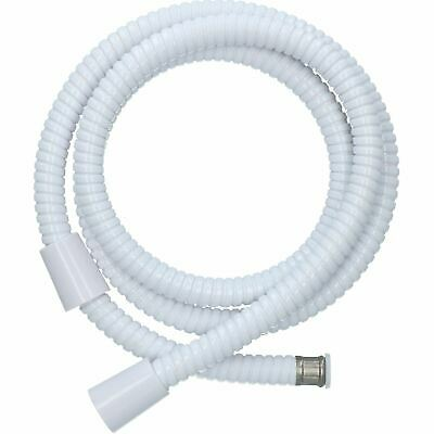1.5m White Corrugated PVC Shower Hose Standard Fit Threaded Double Crimped