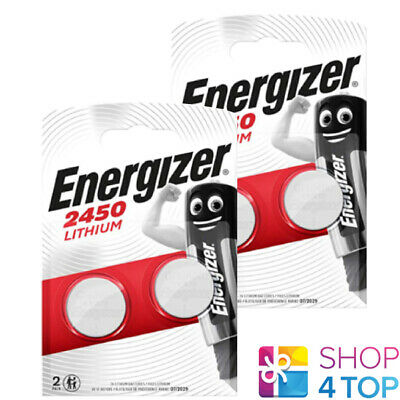 4 Energizer Cr2450 Lithium Batteries 3V Coin Cell Dl2430 Br2430 Exp 2029 New