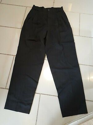"Vintage Gianni Versace Black Smart Trousers 28"" Waist 32"" Leg Black"