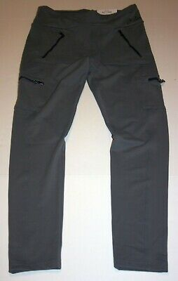New Justice Girls 18 20 yr Gray Zipper Pockets Athletic Leggings Active