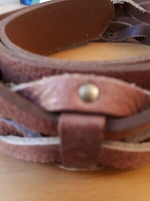 Next Size Large Brown Tan Genuine Leather Belt