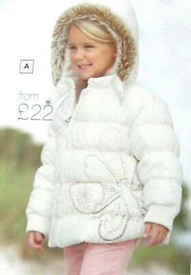 Bnwt Girls Next Winter Coat 2-3 Yrs New Christmas Jacket White Faux Fur Top Pink