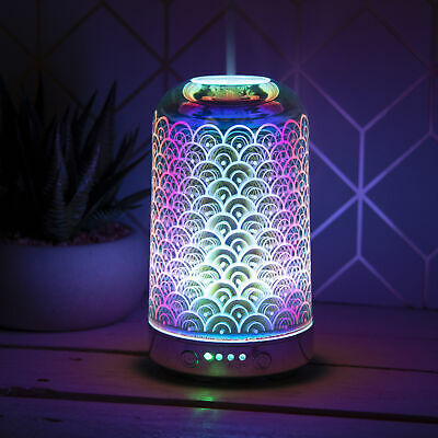 Desire Aroma Mist Humidifier 3D Touch Lamp Colour Changing Orb Oriental Waves