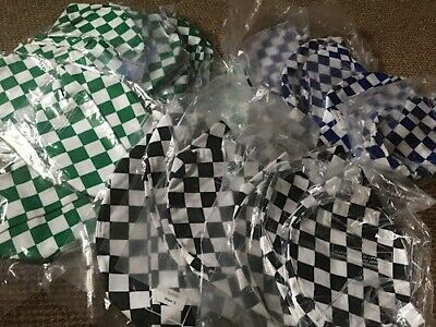 Skull caps, checked style, Catering/ Hospitality. Still bagged x 27. NEW