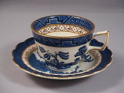 England BOOTHS Real Old willow GOLD TEA COFFEE Cup Saucer England