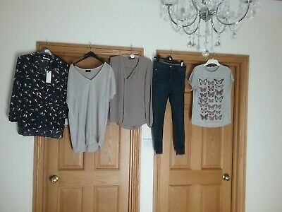 Bundle Of Ladies Clothes Size 12 Next Skinny Jeans, Wallis Top, New Shirt
