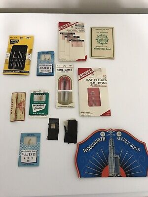 Vtg Lot Sewing Needle Packets Milwards, Watson's, Singer, Majesty, Etc