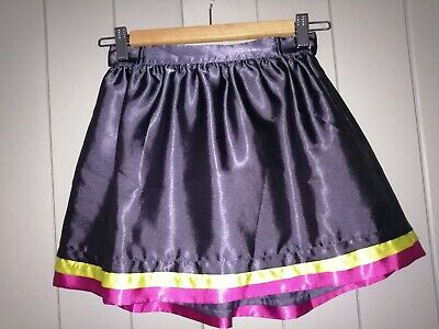 Ted Baker Infant Girls Dark Blue Sateen RaRa Skirt With Pink & Yellow Hemline