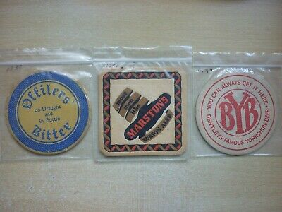 3 Pre War Beer Mats - Offilers, Marstons & Bentleys