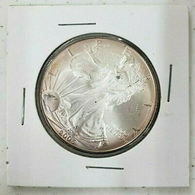 2005 USA Walking Liberty Silver Eagle 1 Dollar Coin 1oz .999