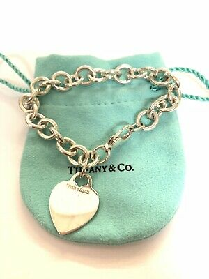 Tiffany & Co, Sterling Silver Heart Tag Bracelet