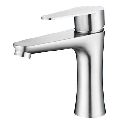 Faucet Single Handle Faucet Stainless Steel Ceramic Valve Hot &Cold Water Tap