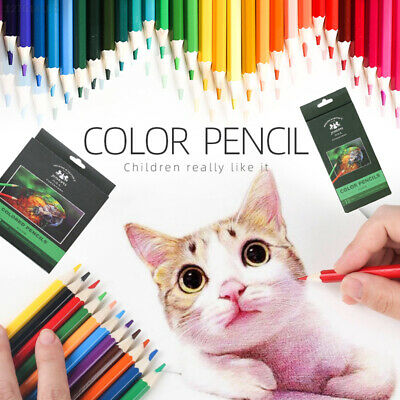 Wooden Colored Pencil Set Artist Painting Pencil Drawing Crayons Professional