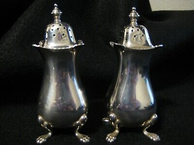 Birks Footed English Sterling Silver Salt and Pepper Shakers