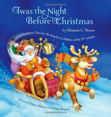 Twas The Night Before Christmas by Clement C.Moore Paperback American Poetry NEW