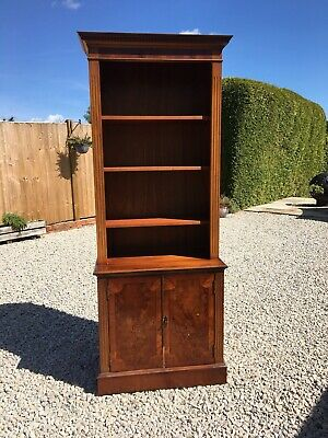 Reproduction Walnut Bookcase And Cupboard