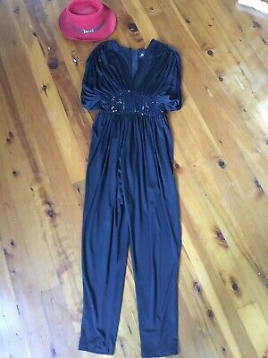 Amazing Vintage 80's Festival Coachella Glam Body Suit , Jumpsuit , All In One
