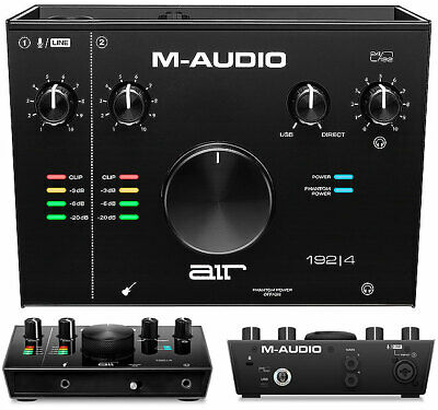 M-audio Air 192 4-2 IN 2 Out 1 Mic - Interface Audio Usb-C para Mac, Windows