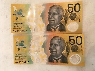FIRST PREFIX -  2018 $50 note - New Generation AA18 2 X Consecutive Notes