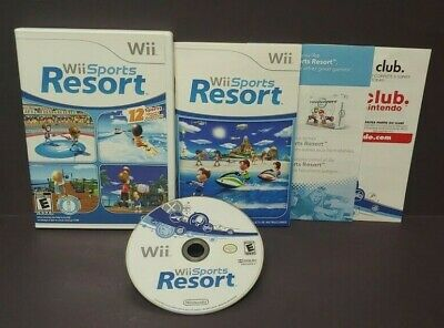 Wii Sports Resort 12 Games  - Nintendo Wii / Wii U Game Tested Complete Manual =